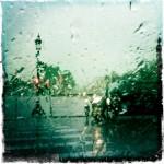 Sous la pluie sur la Concorde
