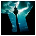 La tour de télévision, Berlin, République Fédérale d'Allemagne.